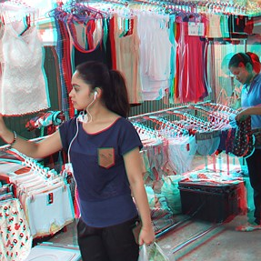 New FinePix REAL 3D W3 Tests Shots - Bangkok Street Market
