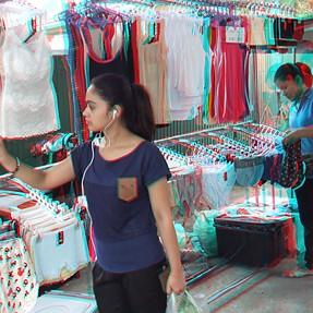 New FinePix REAL 3D W3 Tests Shots - Bangkok Street Market