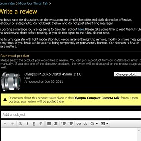 Olympus lens wrongly assigned to Olympus Compact Camera Talk