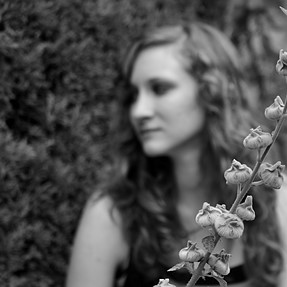 It's my wife and a flower...