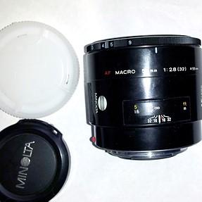 Minolta 50mm f2.8 Macro A-mount AF VGC, and 75-300mm EXC!