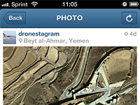 Dronestagram turns Instagram feed into political statement