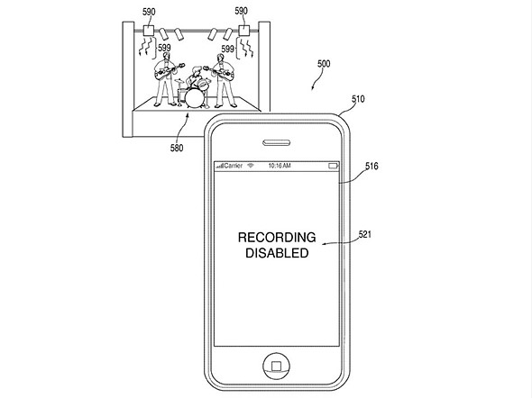 Apple patents system for disabling cameras in no-photography areas 1