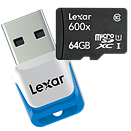 Lexar introduces 600x 64GB microSDXC UHS-I card, four-way reader hub