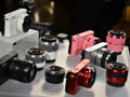 Hands-on images from the Nikon 1 launch, including mock-up lenses