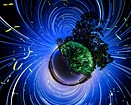 Flickering fireflies in time-lapse