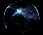 Transportation planner creates beautiful visualizations of flight patterns