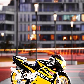 Painting with light motorcycles