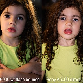 A6000 using the in-camera flash to bounce
