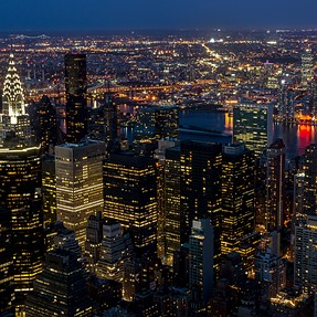 New York City from Empire State Building (A57)