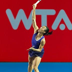 HK Tennis Open 2014 semifinal - S.Lisicki 2:1 F.Schiavone