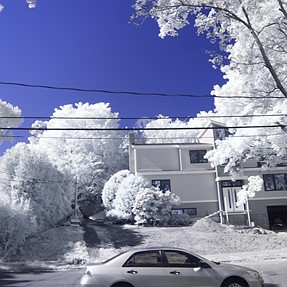 Infrared + UV (Super Blue) converted Olympus E-PM1 for $139 See Pictures!