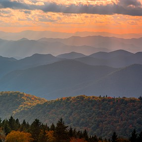 Fall at the Smoky mountains and the blue Ridge,with D750.