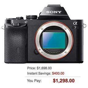 Sony A7 Body $1298!