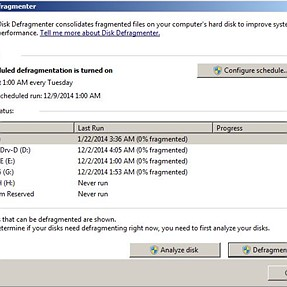 Defragging:  Windows 7 and SSDs.