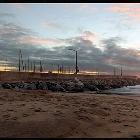 Redondo breakwater at dusk