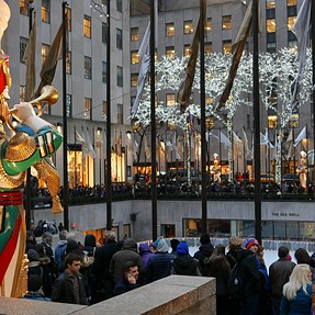 Panasonic LX100 4K Video: Holiday Evening at Rockefeller Center