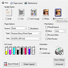 Epson R1800 UVA3 printer Doesnt Print