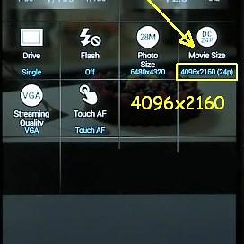 Remote viewfinder 4K NX500