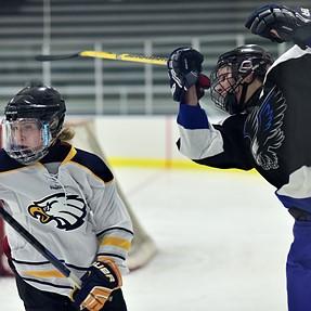 Ice hockey with D750 & 85 f/1.8D