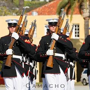 USMC Silent Drill Team MCRD San Diego