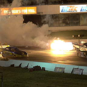 4K UHD video with the Sony RX10 III of Jet Funny cars at nite