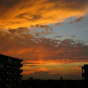When the sky is on fire