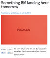 Nokia teases 'BIG' announcement tomorrow