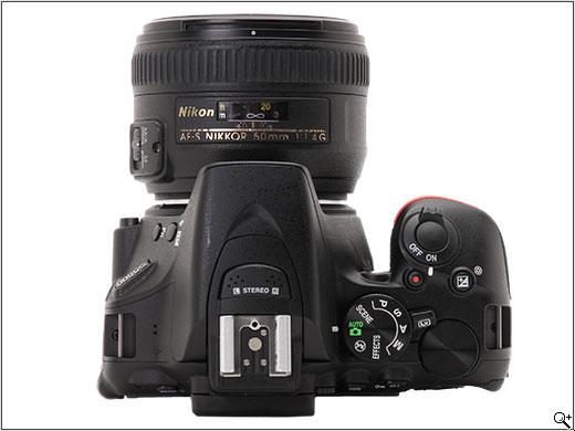 Nikon D5500 bird view.