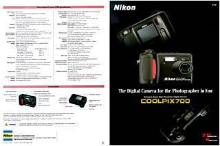Nikon  700 Information Sheet (front & back) - click for 75dpi image